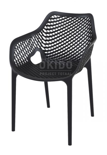Ariane chair black 415x600 - Terrasstoel Ariane met arm Black