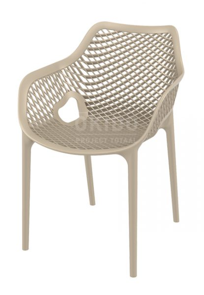 Ariane chair dove grey 415x600 - Terrasstoel Ariane met arm