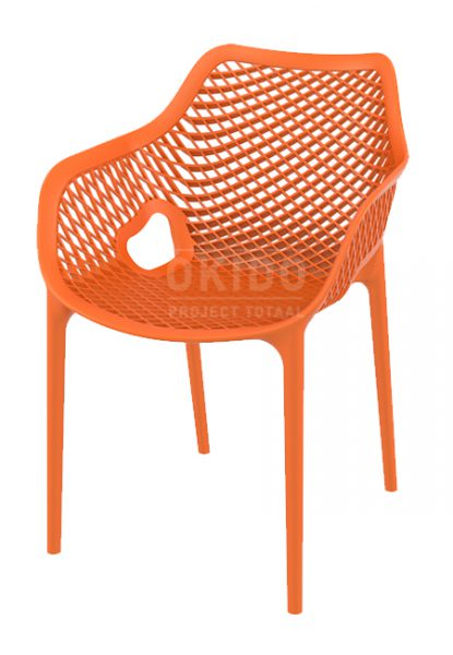 Ariane chair orange 415x600 - Terrasstoel Ariane met arm Orange