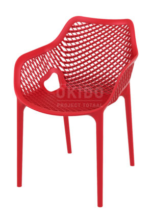Ariane chair red 300x433 - Terrasstoel Ariane met arm Red