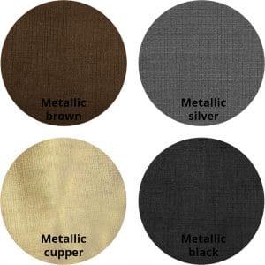 Metallic Dakota kleurrondjes met logo 300x300 - Armstoel Eton