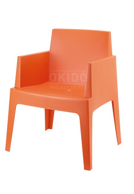 box orange front side - Terrasstoel Box