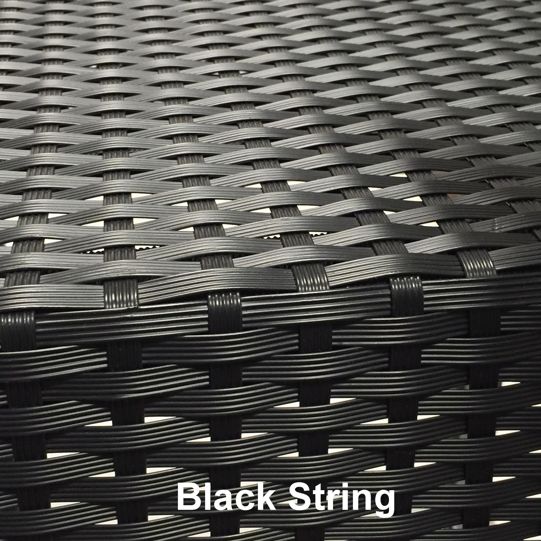 Black String met naam 1 - Terrasstoel Saint Tropez Arm Black String