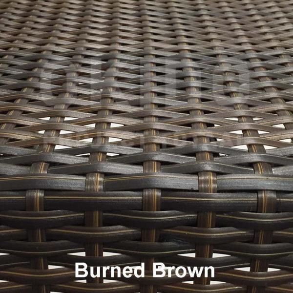 Burned Brown met naam 600x600 - Terrasstoel Saint Tropez Arm Black String