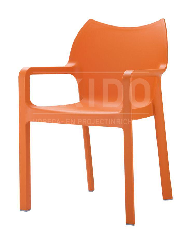 Diva Orange met logo - Terrasstoel Diva Orange