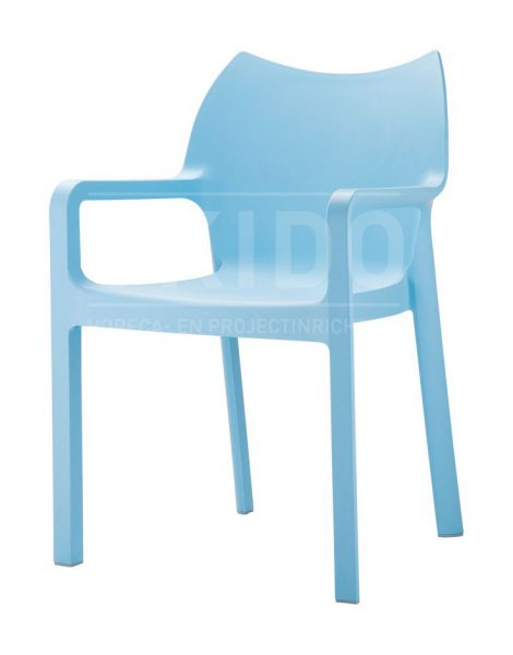 Diva light blue met logo 470x600 - Terrasstoel Diva Light blue