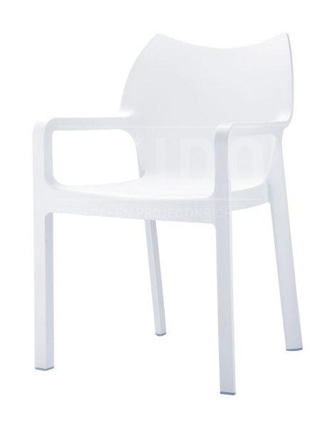 Diva white met logo 470x600 - Terrasstoel Diva White