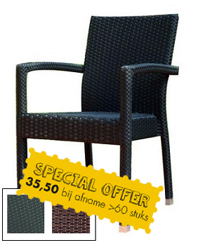 HOOFDFOTO MET SPECIAL OFFER - Terrasstoel Saint Tropez Arm Black String