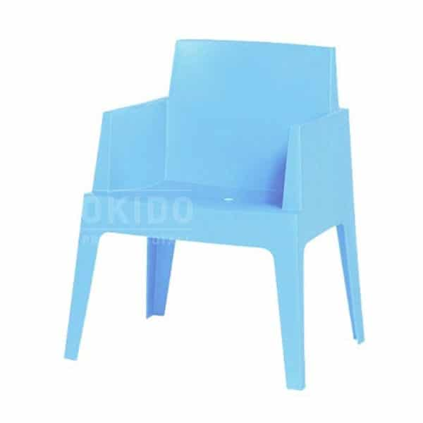 Terrasstoel Box lichtblauw