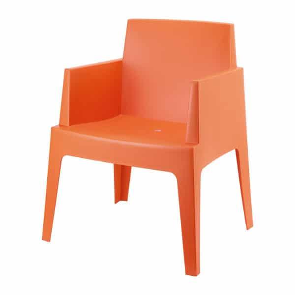 Terrasstoel Box oranje