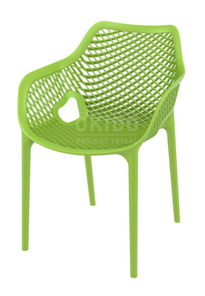Ariane chair Tropical green 415x600 - Terrasstoel Ariane met arm Tropical Green