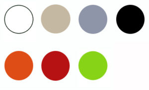 Kleurkaders Ariane zonder geel 300x182 - Barkruk Ariane Wit