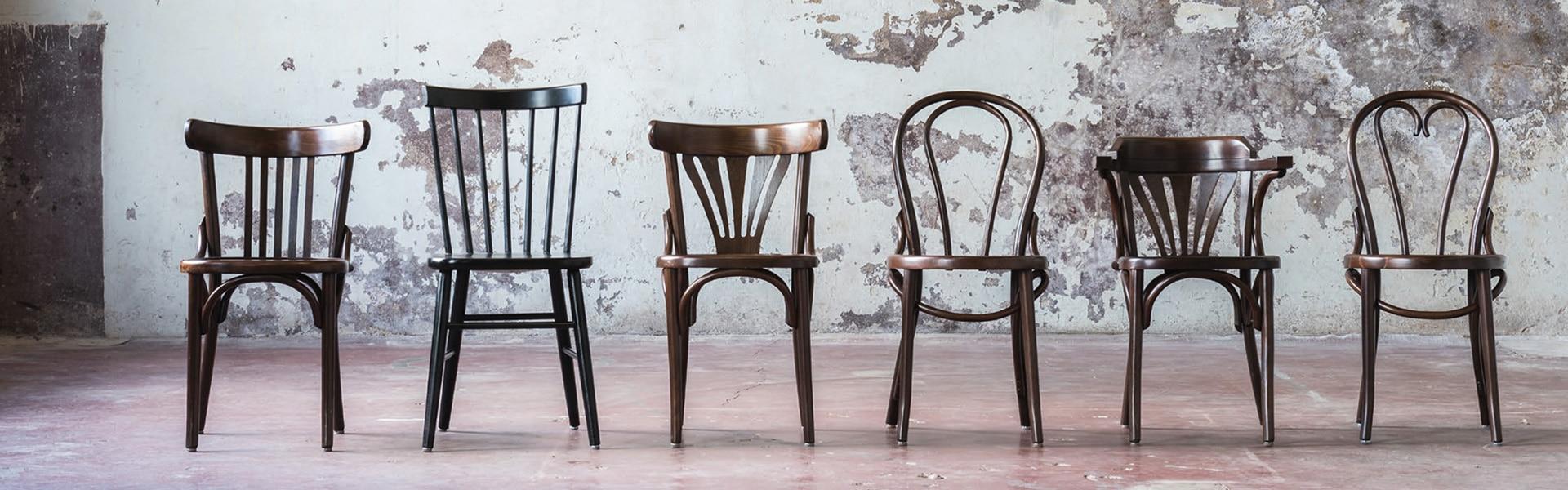 Bekijk onze houten stoelen