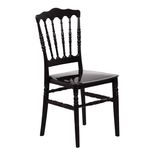 stoel napoleon zitkussen zwart
