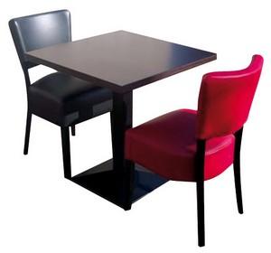 stoel Lisa 2x met tafel 70x70 gietijzer poot - Lisa Set 3