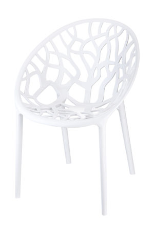 designstoel crystal wit