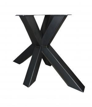 Stalen onderstel Matrix H in zwarte poedercoating