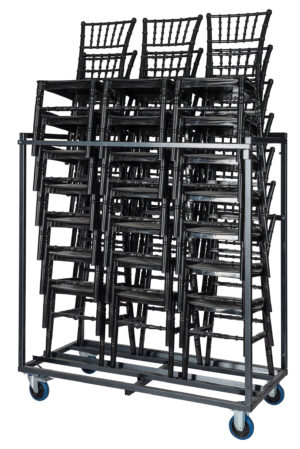 Transportkar met drie stapels stoelen zij aanzicht 300x449 - Transportset Tiffany