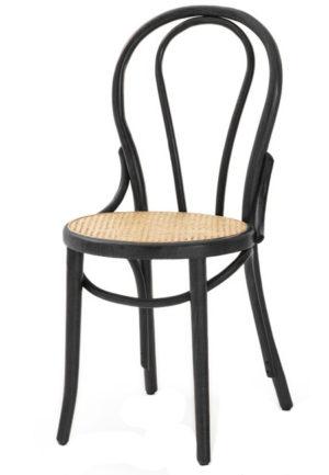 A 018 webbing zwart hoofdfoto 300x433 - Stoel A-018 zwart cane webbing