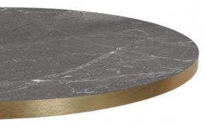 Melamineblad T568 met messing/koper rand